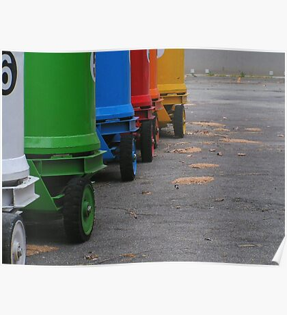 Rainbow on wheels Poster