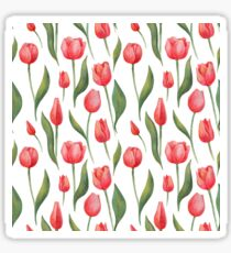 Watercolor Red Tulips Sticker