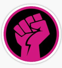 Hot Pink Revolution Fist Sticker