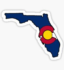 Colorado flag Florida state outline Sticker