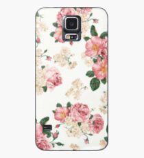 Niedliches Blumen Hülle & Klebefolie für Samsung Galaxy