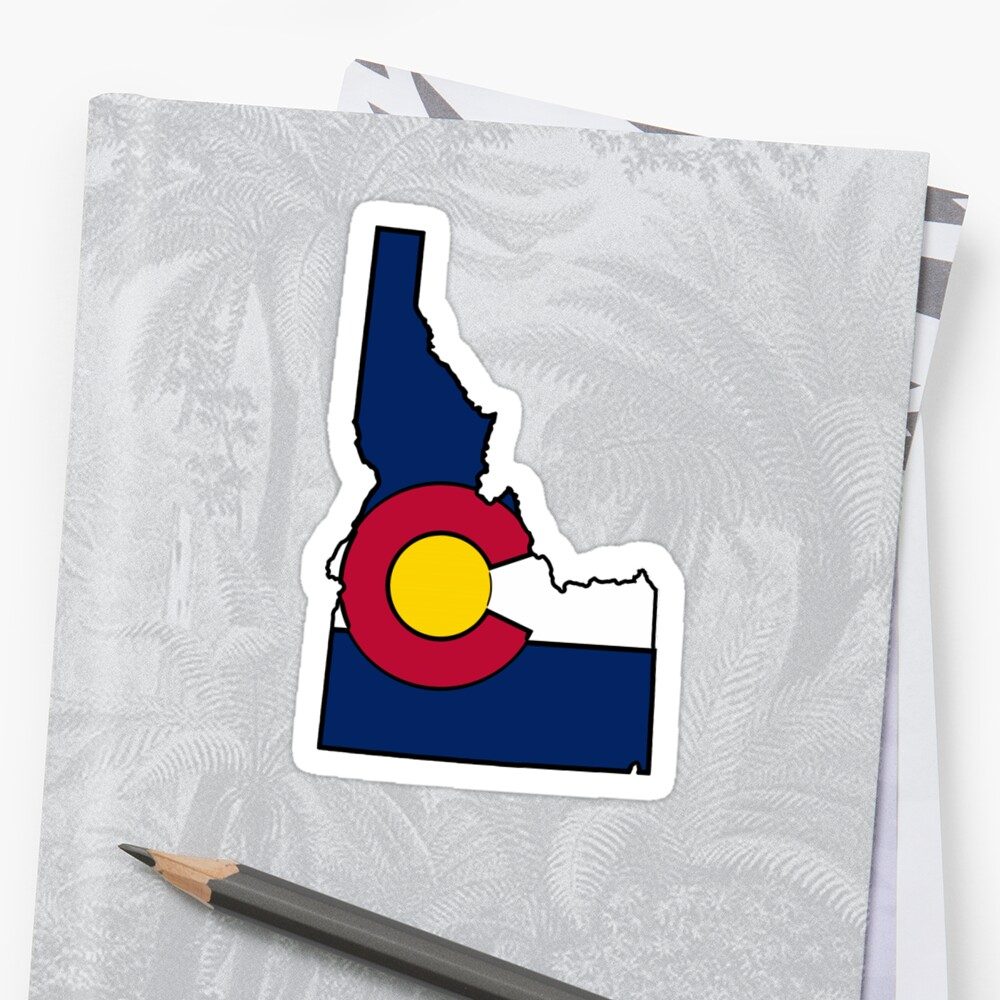 Idaho outline Colorado flag by artisticattitud