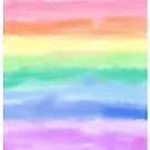 Pastel Rainbow Stripe by BonBonBunny