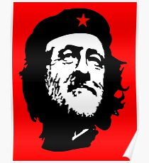 CORBYN, Comrade Corbyn, Leader, Labour Party, Politics, Black on RED Poster