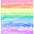 Pastel Rainbow Sparkle Stripe by BonBonBunny