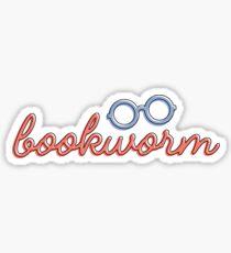 BOOKWORM O-O Sticker