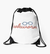 BOOKWORM O-O Drawstring Bag