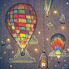 Baloon Sky Stars Fishing by illustore