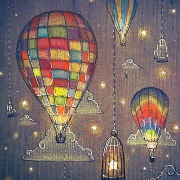 Baloon Sky Stars Fishing by illustore
