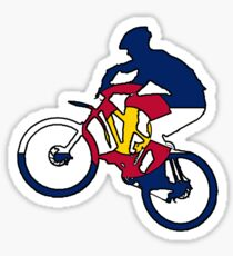 Colorado flag mountain biker Sticker