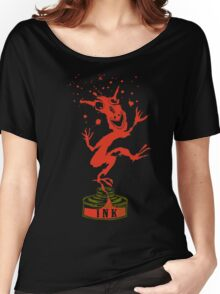 Red Ink Bottle Imp Women's Relaxed Fit T-Shirt