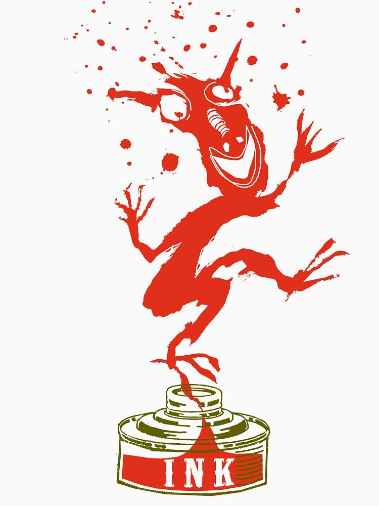 Red Ink Bottle Imp by SusanSanford