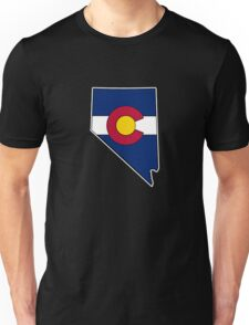 Nevada outline Colorado flag Unisex T-Shirt