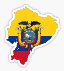 Flaggenkarte von Ecuador Sticker