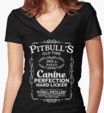 Pit Bull Old Timer Women's Fitted V-Neck T-Shirt