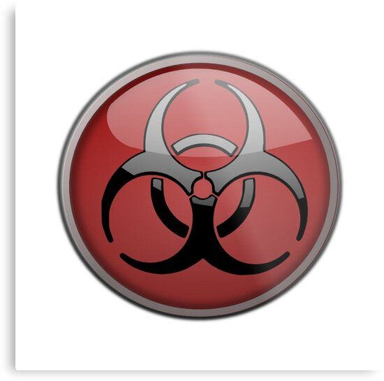 Toxic symbol metal prints by thebeststore redbubble toxic symbol by thebeststore altavistaventures Images