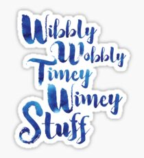 Doctor Who - Wibbly Wobbly Timey Wimey Stuff Sticker