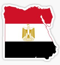 Flag Map of Egypt  Sticker