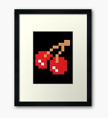 8-Bit Cherry Framed Print