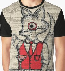 Fox with Monocle Graphic T-Shirt
