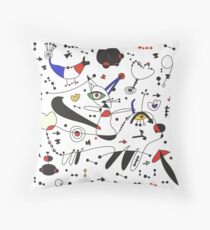 Miro inspiration Throw Pillow