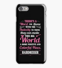 Big colorful world with hairdresser iPhone Case/Skin