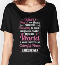 Big colorful world with hairdresser Women's Relaxed Fit T-Shirt