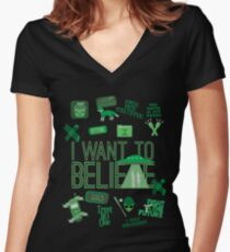 Design in the Key of X Women's Fitted V-Neck T-Shirt