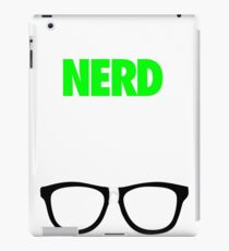 I'M A NERD NOT A GEEK. iPad Case/Skin