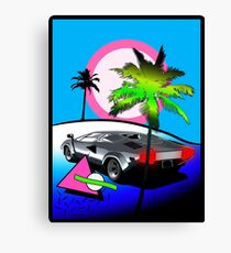 Beach Cruisn' 1990 Canvas Print