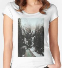 Ice palace - landscape photography Women's Fitted Scoop T-Shirt