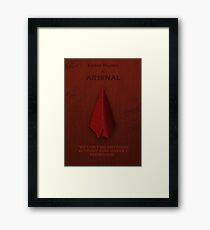 Arsenal Character Poster Framed Print