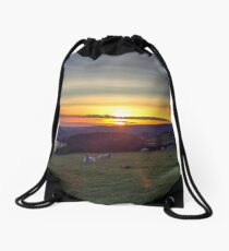 Sunset at Peak District Drawstring Bag