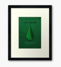 The Arrow Character Poster Framed Print