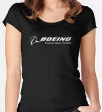 Boeing Aircraft Logo Women's Fitted Scoop T-Shirt