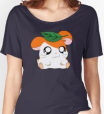 Hamtaro with Leaf Women's Relaxed Fit T-Shirt