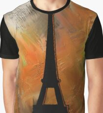 Eiffel Tower Rustic Graphic T-Shirt