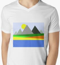 Abstract Landscape Men's V-Neck T-Shirt