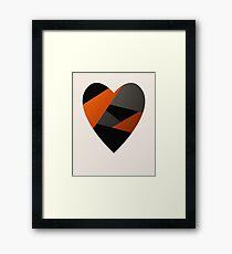 Metal Love Heart Framed Print