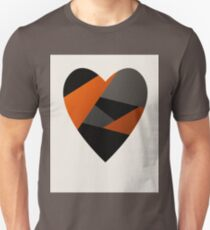 Metal Love Heart Unisex T-Shirt