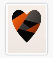 Metal Love Heart Sticker