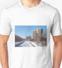 Ottawa's Rideau Canal in winter T-Shirt