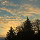 Sunrise over our neighbourhood by rumimume