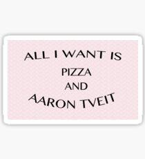 pizza & aaron tveit Sticker
