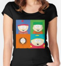 Southpark- The Gang Women's Fitted Scoop T-Shirt