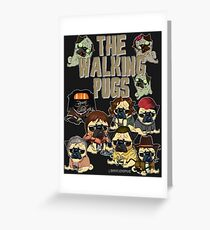 The Walking Pugs Greeting Card