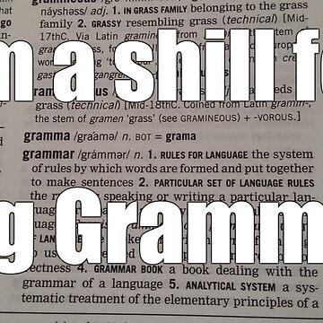 Shill for Big Grammar by Workshopisme