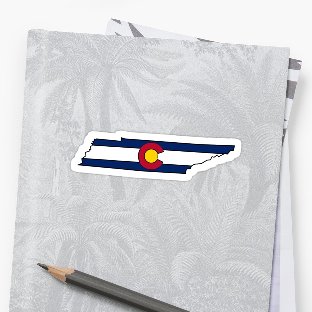 Tennessee outline Colorado flag by artisticattitud