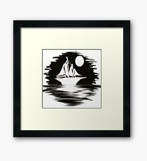 Ship In The Night Framed Print