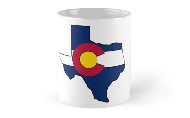 Texas outline Colorado flag by artisticattitud